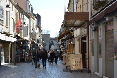 Aigues-Mortes : Rue piétonne