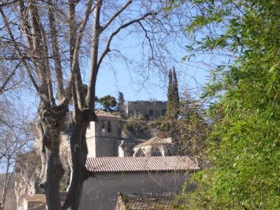 Cirque de mourèze : l'église du village