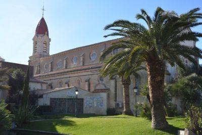L'arrière de l'église à Palavas